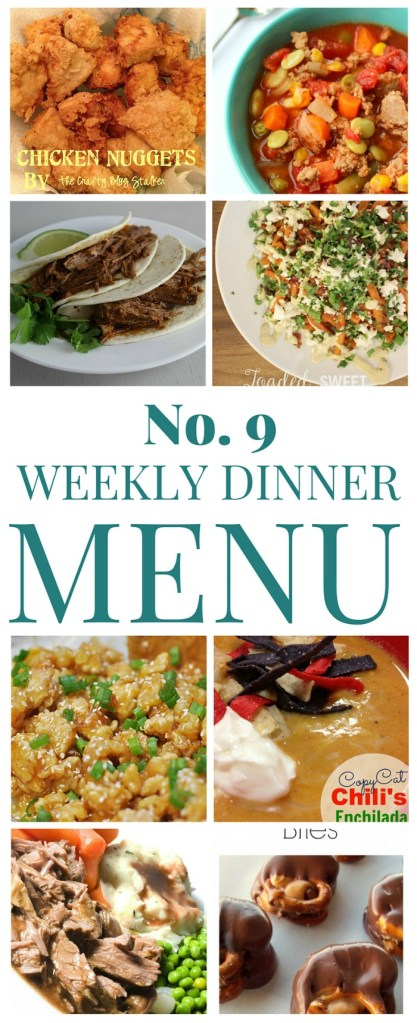 What's for dinner? (Menu 9)