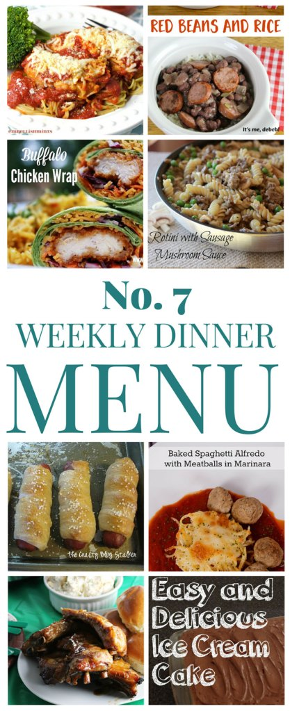 What's for dinner? (Menu 7)