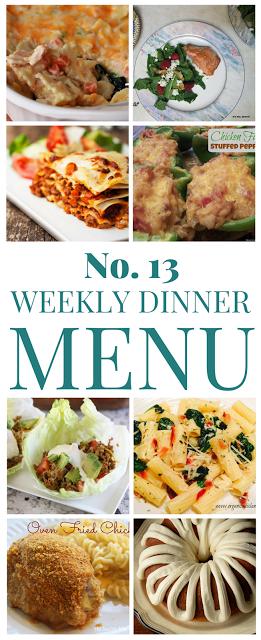 Weekly Dinner Menu 13