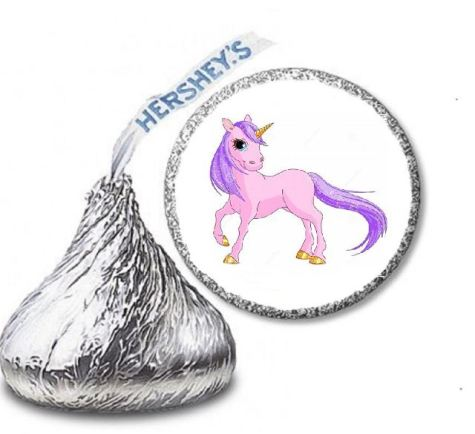 Unicorn Stickers for Hershey Kisses