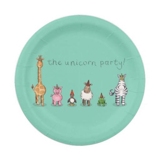 Unicorn plates