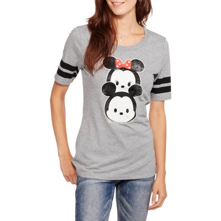 "Disney Juniors' Tsum Tsum ""Piggyback"" Hockey Burnout Tee"