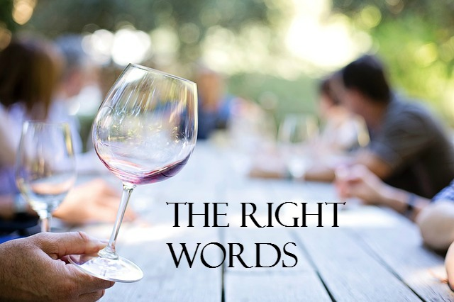 The right words