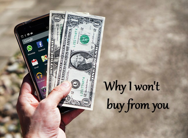 Won't buy from you