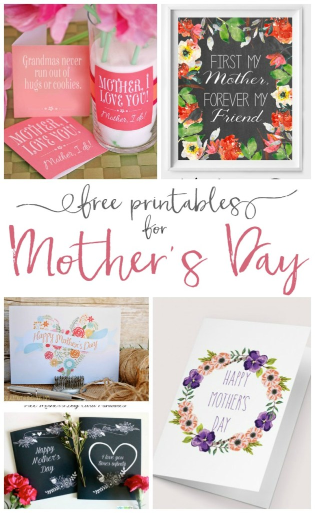 Fabulous FREE Mother's Day Printables