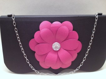 Purse with real chain invitation