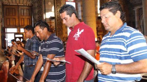 Jugadores de Venados en Misa de Acción de Gracias