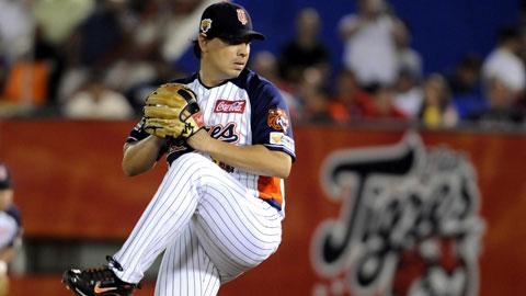 Pablo Ortega, pitcher de Tigres de Quintana Roo