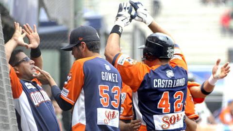 Willie Romero y Pedro Castellano de Tigres de Quintana Roo