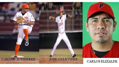 Carlos Gutiérrez, José Oyervides y Carlos Elizalde de Acereros de Monclova