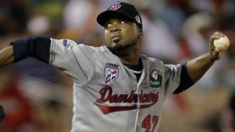 Francisco Liriano, pitcher de República Dominicana en la Serie del Caribe 2012