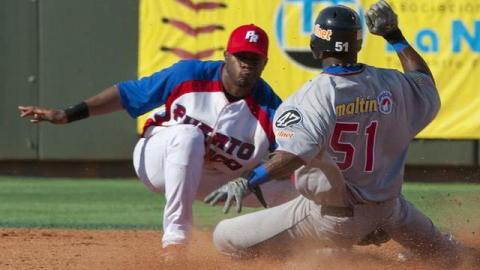 Puerto Rico enfrentando a Venezuela en la Serie del Caribe 2012