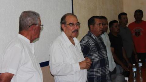 Ing. Pedro Treto Cisneros en la Academia de la Liga Mexicana de Beisbol