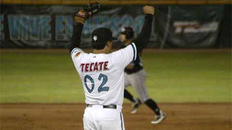 Rafael Díaz, pitcher de Saraperos de Saltillo frente a Guerreros