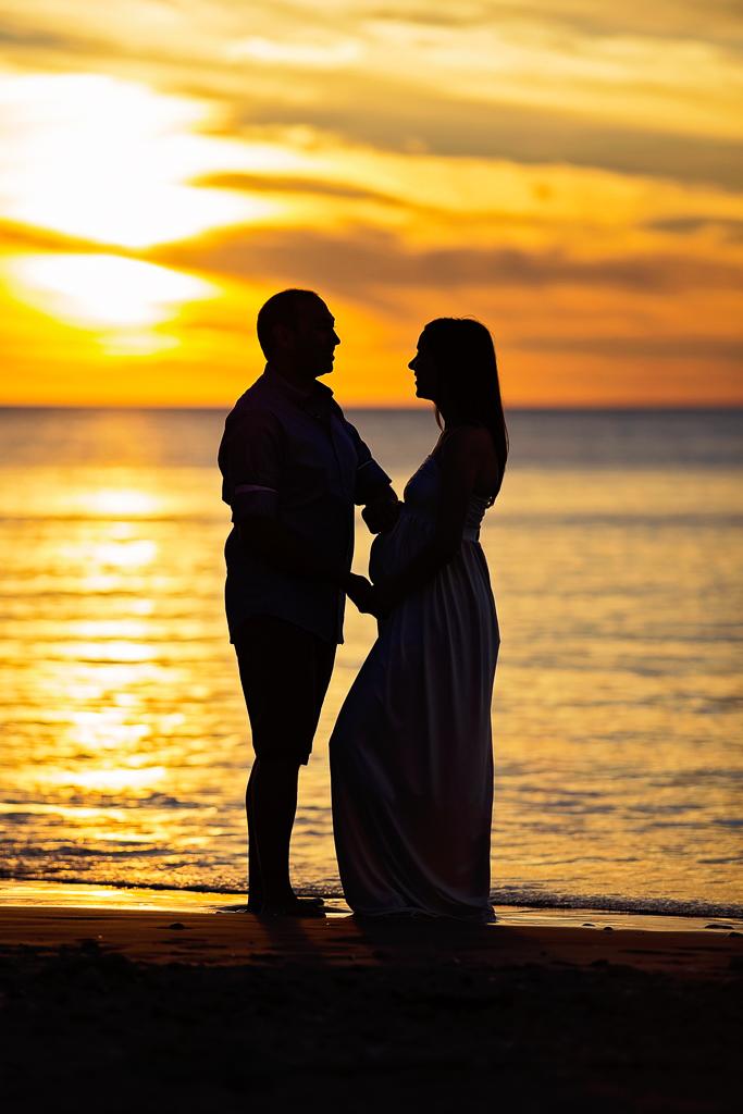 Port Willunga Beach couple maternity photos
