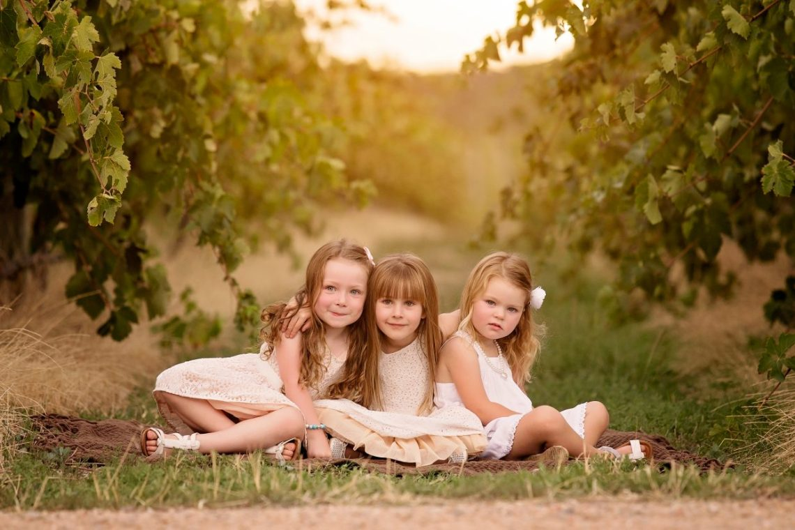 Family Photography in McLaren Vale Wine Region - Cousins