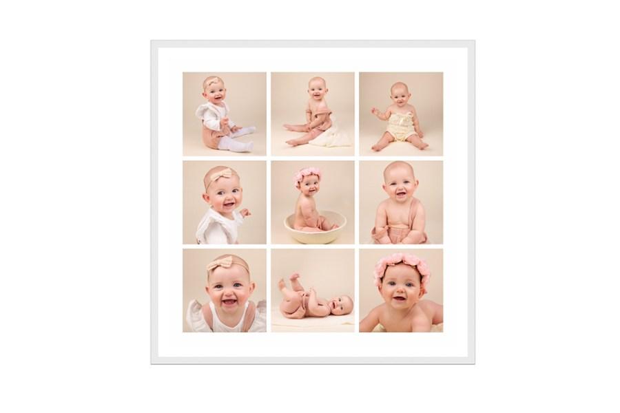 baby photos in a frame