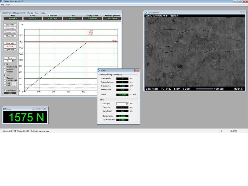 200N Compression Amp Horizontal Bending Stage For SEM