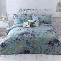 Turquoise 'Magnolia Peacock' bedding set - Designer ...