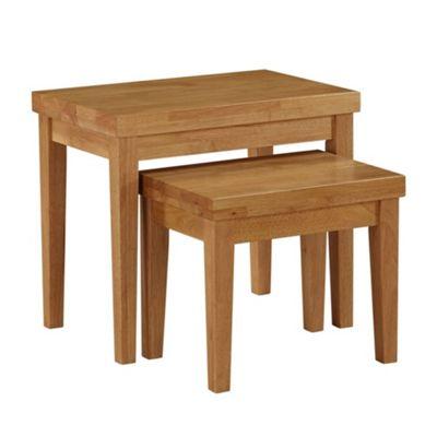 living room side table standing lamp coffee tables debenhams oak fenton nest of 2