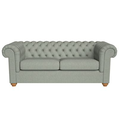 chesterfield sofa bed toddler flip open debenhams 3 seater textured weave