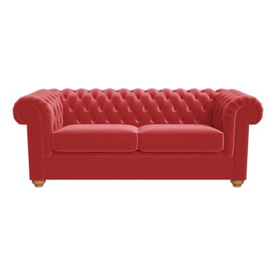 velvet chesterfield sofa prices grey accent pillows sofas chairs furniture debenhams 3 seater amalfi