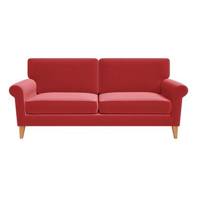 one and half seater sofa white leather bed ebay 3 sofas medium debenhams amalfi velvet arlo