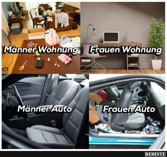 MnnerFrauen Wohnung  Lustige Bilder Sprche Witze