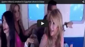 Mira la reacción de Paris Hilton cuando piensa que su avión se estrallará en broma de un programa de TV