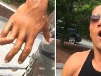 """La Roca sufre terrible accidente y comparte video diciendo """"No tengo tiempo para sangrar"""""""