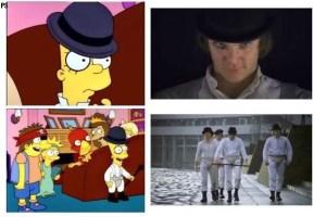 Recordamos los homenajes realizados a películas clásicas de la familia de Springfield