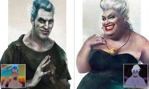 Este artista imagina cómo se verían los villanos de Disney si fueran reales