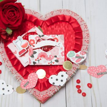 DIY Valentine Party Favor and Mini Banner Using Die Cuts