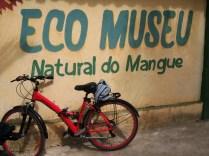 Ficamos no Eco Museu, um local que visa a preservação do mangue