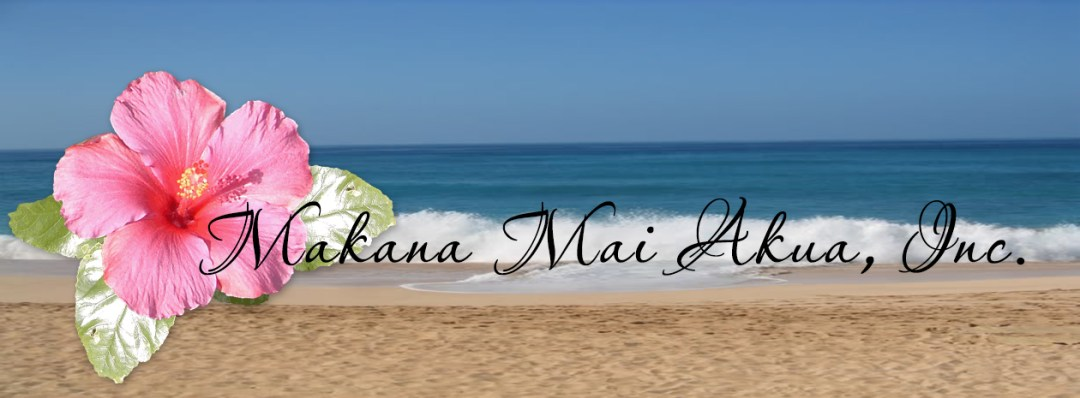 Makana Mai Akua Inc logo on beach background