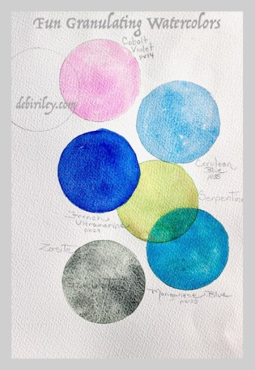 Watercolor Granulation : watercolor, granulation, Watercolor, Granulating, Pigments, Riley