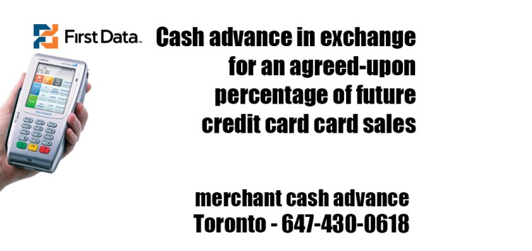 Cash advance in exchange for an agreed-upon percentage of future credit card card sales