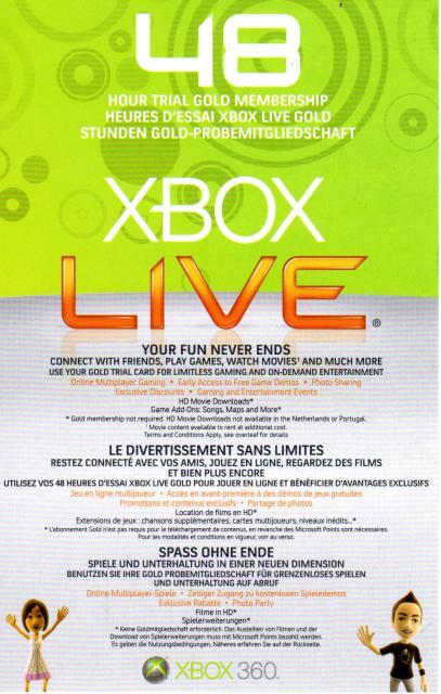 Code Xbox Live 48 heures gratuit et illimité !   DeblokGsm