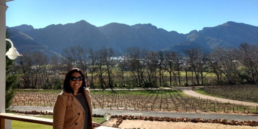 Passeio de trem por vinícolas da África do Sul