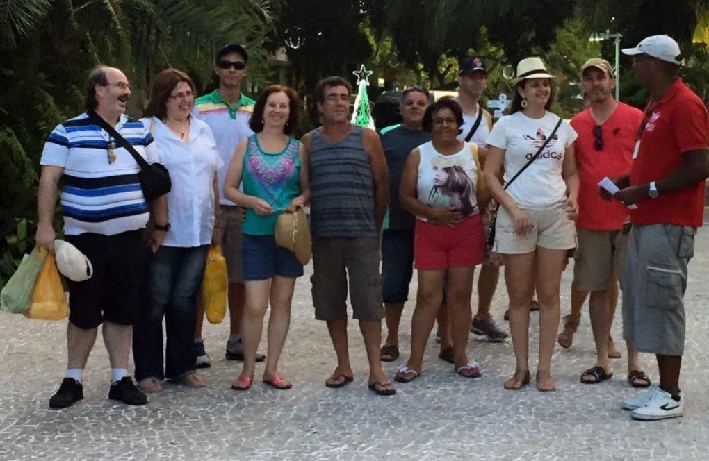 De Boa recepcionando grupo de turistas de São Paulo.