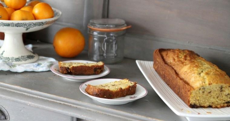 Le Cake à l'orange et aux pépites de chocolat