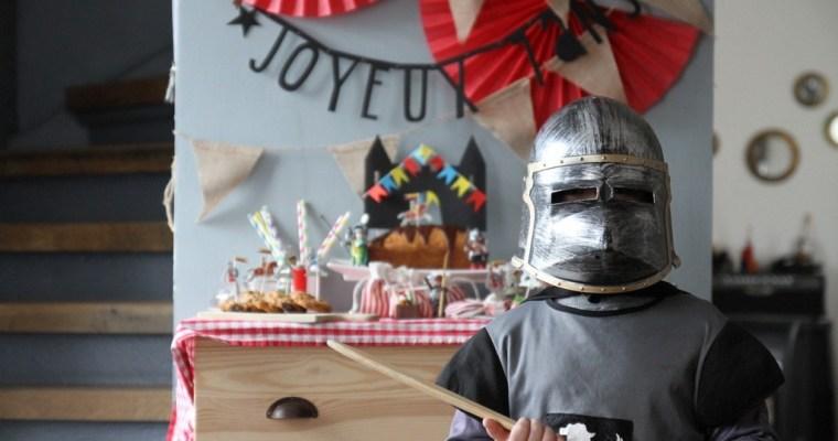 Une fête chevalier pour les 7 ans de Roméo