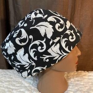 Black and white scrub hat