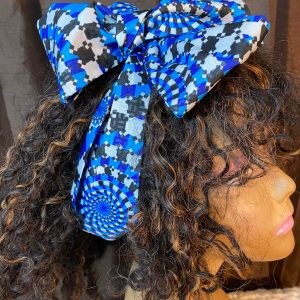 black and blue headwrap
