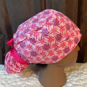 Pink tribal African scrub hat