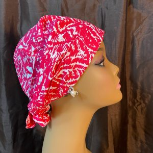 pink and white abstract scrub hat