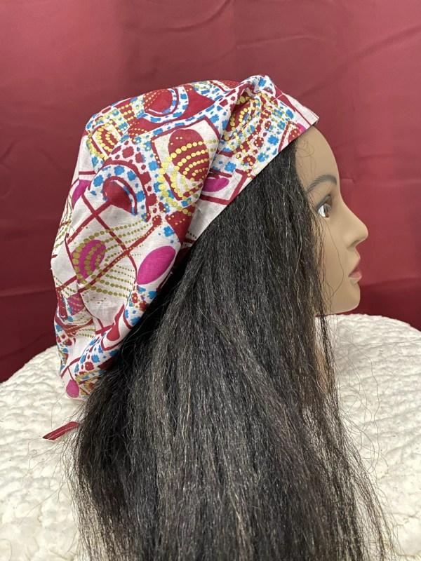 satin lined scrub cap