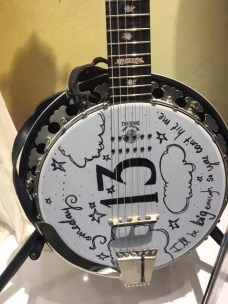 The displays were full of Swift memorabilia. This banjo was from Swift's Grammy Awards performance in 2012.