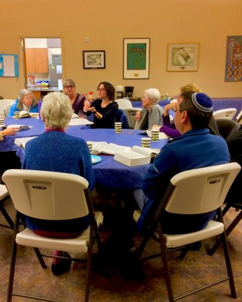 Photo of Shabbat Torah study 11/17/18