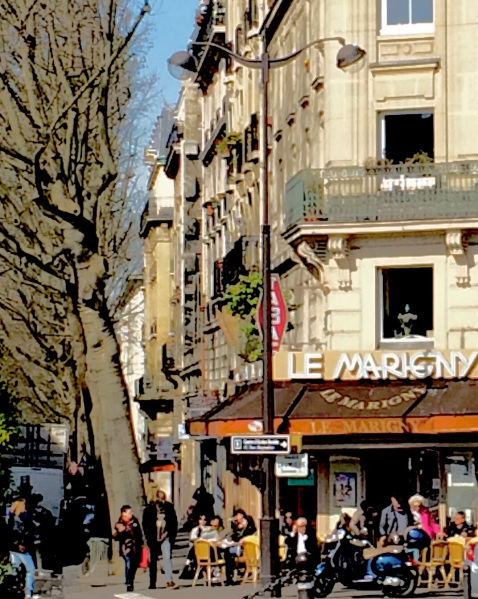 Photo of Le Marigny café across from Buttes Chaumont Park